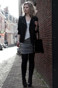 126e4518b2 Discover this look wearing Black Anna Dello Russo X H&M Boots, Black Mango  Jackets, Black Frenchonista Bags - GREY-ISH by RedReidinghood styled for  Rocker, ...