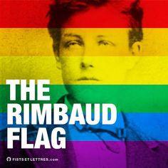 Pour la #GayPride on a sorti le plus poétique des drapeaux !  #gaypride2016 #fistsetlettres #rimbaud #rainbow #rainbowflag #flag