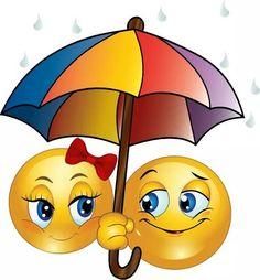 Verliebt zu zweit unterm Schirm, da stört auch kein Regenguss!