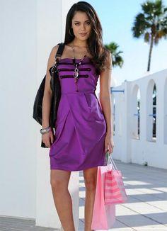 Vestido roxo elegância fashion