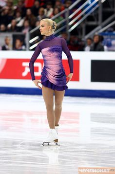 Kiira Korpi. The dress maker designs with a high fashion sense... Just works so well on the ice.
