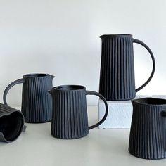 "Ceramics inspiration on insta on Instagram: ""▪️ Cute jugs ▪️ ...................... by @leighpottery ——————————————- #ceramic #ceramics #ceramicjugs #ceramicart #ceramicjugs #ceramista…"" Ceramic Pitcher, Ceramic Art, Ceramics, Mugs, Tableware, Inspiration, Instagram, Ceramica, Biblical Inspiration"