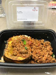 Turkey chile, cauliflower rice and squash Lange Diet compliant.
