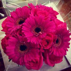 Gerberas roses. www.funkybunches.com.au