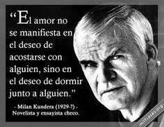 Milan Kundera, novelista y ensayista checo.