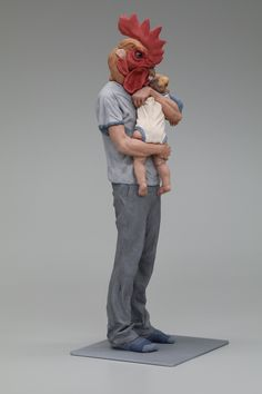 Gallo creates sculptures that use animal/human hybrids to communicate very clear messages about who they are as characters. Animal Masks, Animal Heads, 3d Printer Models, Mixed Media Sculpture, Wallpaper Space, Contemporary Ceramics, Installation Art, Caricature, Ceramic Art