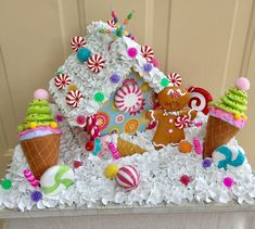 Wonderful Gingerbread Christmas Home Decorations Ideas 47 Cool Gingerbread Houses, Gingerbread House Designs, Gingerbread House Parties, Gingerbread Decorations, Christmas Gingerbread House, Candy Land Christmas, Pink Christmas, Christmas Holidays, Christmas Projects