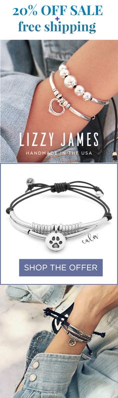 Use code PIN20 to receive 20% OFF our NEW 2018 JOY Collection! Featuring stylish, stackable and adjustable leather bracelets from Lizzy James Jewelry. Proudly handcrafted in the USA and now an Employee-Owned Company!
