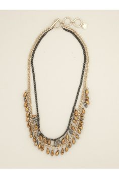 marble drop collar necklace