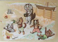 Louis Wain Cats, Louis Williams, Greatest Adventure, Vintage Postcards, Vintage Advertisements, Cat Lady, The Hobbit, Seaside, Dogs