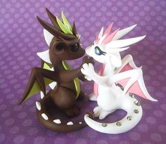 Chocolate Mint and Strawberry Couple by DragonsAndBeasties on Etsy