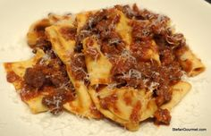 Wild Boar Ragu with Parpadelle..... A must try, or change it up and use Oxtail or Veal Shank.