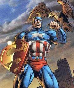 Amalgam Universe - Super-Soldier (Captain America + Superman) ®