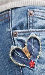 New Sewing Jeans Hole 62 Ideas Sewing Jeans, Diy Jeans, Recycle Jeans, Upcycle, Jean Crafts, Denim Crafts, Zipper Crafts, Zipper Jewelry, Denim Ideas