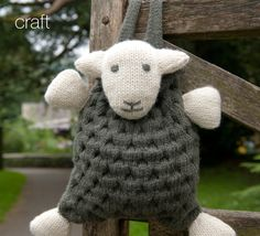 """Knit sheep backpack from """"The Herdy Company"""" in the U.K. Opened in 2007 by designers Spencer and Diane Hannah, they won the """"Small Company of the Year"""" award in their region.  They created the """"Herdy Fund"""" that donates a % of their profits to help support sustainable rural communities. They've grown to supply over 300 retailers in the U.K. with their products, and now export to both the U.S. and Japan.    (www.herdy.co.uk)"""