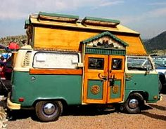 The Flying Tortoise: A Very Famous And Very Gorgeous VW Kombi Gypsy Campervan...