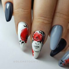 Colorful nails flower nail art Long nails Nails trends 2018 Nails with faces Oval nails Painted nail designs Summer nails 2018 Best Nail Art Designs, Colorful Nail Designs, Colorful Nails, Watermelon Nail Designs, Bright Colored Nails, Nail Trends 2018, Summer Nails 2018, Nail Art Design Gallery, Super Cute Nails
