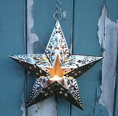 Embossed Cut Out Star Tea Light - home sale