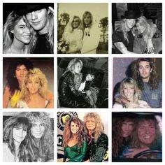 Hot 80's #GlamRock lovers~ ❤️ ~Jani Lane & Bobbie Brown (RIP Jani...)~ Tommy Lee & Heather Locklear~ David Coverdale & Tawny Kitaen...