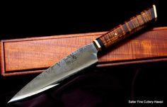 Collectible chef knife. Gregg Salter and Kiku Matsuda collaboration. OU-31