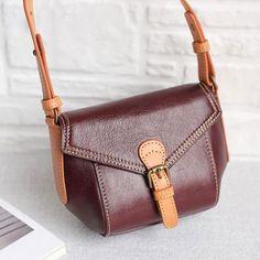 Overview: Design: Genuine Leather Handmade Handbag Crossbody Bag Shoulder Bag In Stock: 2-6 days to process orders Include: Only Shoulder Bag Custom: None Color: Black, Dark Red, Caramel, Moss Green Material: Cowhide...