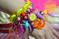 Yummy Candy Sea Of Love Funky Chunky Charms Kawaii Kitsch Bracalet | Kawaii4U - Jewelry on ArtFire