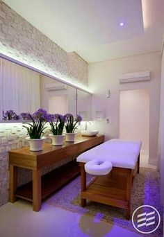 50 ideas pedicure salon treatment rooms for 2019 Spa Design, Home Design, Salon Design, Massage Room Decor, Spa Room Decor, Home Decor, Home Spa Room, Spa Rooms, Spa Interior