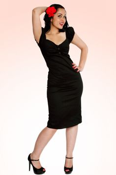 Collectif Clothing - 50s Dolores dress black retro