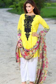 Yellow Color Sana & Samia Dress