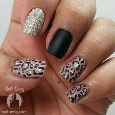 Matte and Textured Leopard Print Nail Art Design - Black, Nude, Zoya Pixie Dust