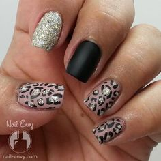 Matte and Textured Leopard Print Nail Art Design - Black, Nude, Zoya Pixie Dust