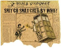 Doctor Who Harry Potter crossover TARDIS