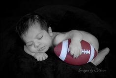 Another cute football newborn pic
