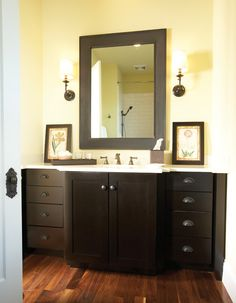 The Wellborn Family is committed to be the most valued provider of permanent home kitchen and bath cabinetry designed for a lifetime of gracious living. Bathroom Cabinetry, Bathroom Renos, Bathrooms, Cabinet Door Styles, Cabinet Doors, Wellborn Cabinets, Guest Bath, Modern Bathroom, My Dream Home