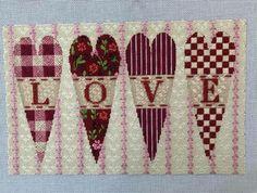 Melissa Shirley Love Hearts needlepoint canvas