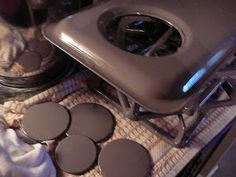 The Hidden Pantry: Easiest Stove Cleaning for ENAMEL Tops and ENAMEL Drip Pans on Gas Ranges