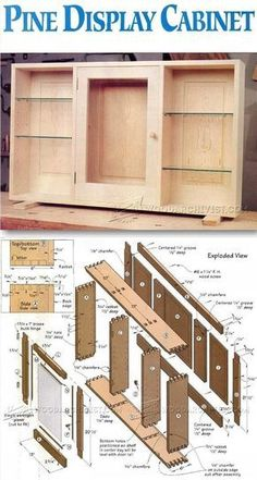 Wall Display Cabinet Plans - Furniture Plans and Projects #WoodworkingPlans