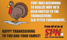 Have a Magical Thanksgiving! from all of us at Slo-Pitch National! Happy Thanksgiving, Pitch, Comic Books, Invitations, Cover, Happy Thanksgiving Day, Cartoons, Save The Date Invitations, Comics