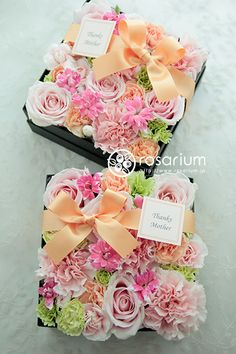 boxed flower bouquet