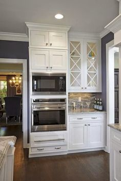 """The Little White House On The Seaside.         This is a definite in my new kitchen...As one gets older...""""I have seen my own mother go out from bending over to lift out of regular oven...I like the height of these..."""