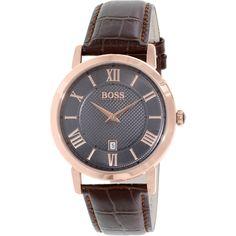 Hugo Boss Men's 1513138 Brown Leather Quartz Watch