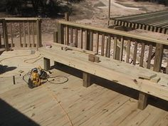Like the idea of having benches around the railing of the deck
