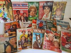 Lot of 16 VINTAGE YOUNG MISS Magazines 1970-1972 MOD Groovy