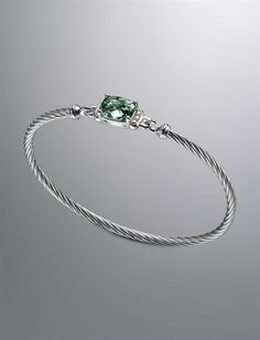 David Yurman - Petite Wheaton Bracelet, Prasiolite style