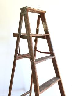 Antique Painter's Ladder / 5 Rung Wooden Rustic Stepping Ladder / Solid Wood 6' Climbing Ladder / Farmhouse Wood Folding Decorative Ladder by ShopRachaels on Etsy https://www.etsy.com/listing/508490517/antique-painters-ladder-5-rung-wooden