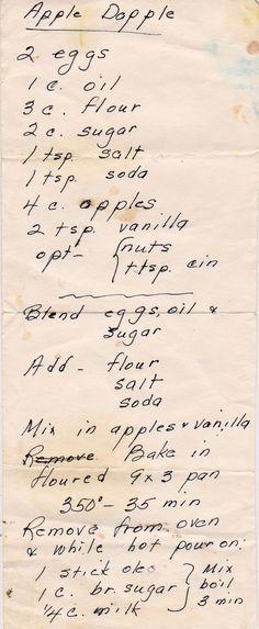 Apple Dopple Cake (Fresh Apple Cake).