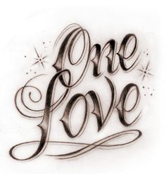 One love one heart tattoo pictures 4 Tattoo Lettering Styles, Chicano Lettering, Tattoo Design Drawings, Graffiti Lettering, Tattoo Fonts, Love Heart Tattoo, Heart Tattoo Designs, Love Tattoos, Tatoos