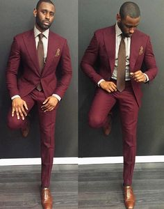 9bc01a5d16cf Maroon color Single Breasted Suit gives a dapper and a elegant look  Burgandy Suit Men