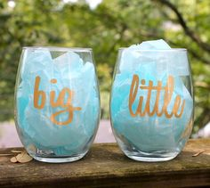 Big Little Sorority Stemless Wine Glass by meganmariebrown on Etsy