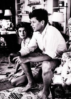 John Fitzgerald Kennedy and Jackie Kennedy   definitely one of my heroes and favorite presidents.